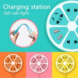 Wholesale Lemon Socket MULTI FUNCTION USB Plug Electrical Outlet Power Charger station Socket for mobile tablet m extension cable