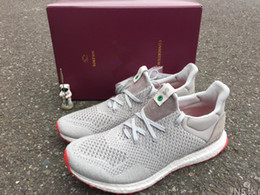 Wholesale Solebox Consortium Ultra Boost UNCAGED Gray Red S80338 Sneakers Men s and women s Casual Shoes Breathable Running Shoes