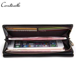New Vintage Mens Wallets Zipper Dark Red Purse Genuine Leather Handbag Credit Card Holder Moneybag Cool Wallet for men