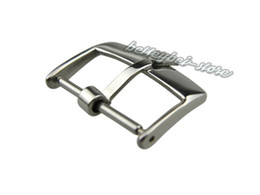 18mm Support Wholesale New watch band pin buckle Silver polished High quality Solid Stainless Steel for strap brand crown