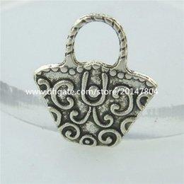 Wholesale 14684 Alloy Antique Silver Vintage Mini Cute Basket Pendant Charm Jewelry