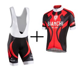 Wholesale Bianchi Pro Team Breathable Cycling Jerseys Clothing Quick Dry Ciclismo Hombre Bike Clothing Lycra GEL Pad Bike Bib Pants Shorts For Man