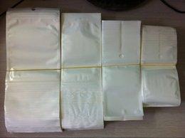 Sac de rangement clair à vendre-Vente en gros 5000pcs / lot clair + blanc plastique Zipper sac de package de vente au détail pour le chargeur de câble de données Accessoires de téléphone cellulaire Emballage