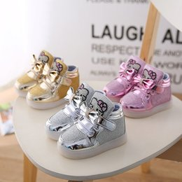 Hug Me Kids Shoes 2016 Fashion LED Shoes Cute Cartoon Mickey Shoes Boys Girls Casual Shoes Autumn Children Shoes So -1