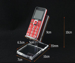 Wholesale New Style Clear Acrylic high chair shape Mobile cell Phone holder Display Rack Desktop with label tag sign price name card frame