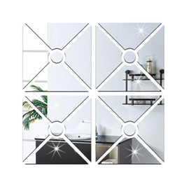 Wholesale Entrance living room sofa TV background wall stickers decorative acrylic mirror perspective new European and American fashion