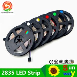 Wholesale String Lamp Price - SMD 2835 RGB LED Strip light 300LEDs  5M New Year String Ribbon lamp More Brighter than 3528 3014 Lower Price 5050 5630 Tape