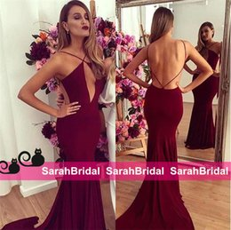 Charming Wine Red Mermaid Evening Dresses with Sexy keyhole Bust Fit and Flare Skirt Long Full Length Prom Gowns for Women Formal Wear Sale
