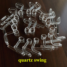 Wholesale Hyman quarz carystal swing arm normal used size quartz nail swing bucket also sell domeless quartz honey bucket caps