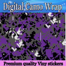 Purple Orange Green Pink Yellow Piexl Vinyl Car Wrap Film With Air Rlease Digital CamouflageTruck wraps covers 1.52x30m Roll