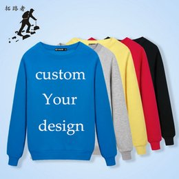 Wholesale 2016 Advertising Custom Hoody Printed Personalized Mens Casual Cotton Sweatshirt DIY logo plain pullover Quality Customized stitch Design