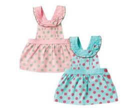 Wholesale news cotton pink and blue polka dot children dress summer baby girls dress kids clothing