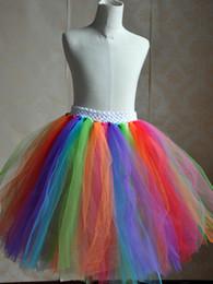 Promotion vêtements de ballet pour bébé 2017 Mode Vêtements Enfants Bébés filles Tutu Danse Porter Jupes Ballet Pettiskirt Colorful arc-jupe volantée Birthday Party Jupe MC0250