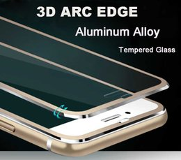 Wholesale 3D Arc Edge Aluminum Alloy Tempered Glass Full Screen Protector For Apple iPhone S Plus H Hardness Screen Protective Film