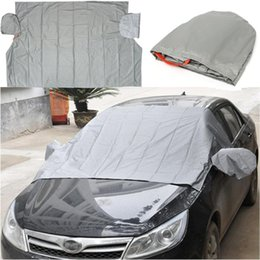 Wholesale 2016 New x cm Car Windscreen Cover Magnetic PEVA Cotton Anti Snow Frost Ice Cotton Window Mirror Protector