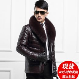Wholesale Fall The leather jacket in the long section of Haining Leather Men s male male real fur fox fur sheepskin jacket in winter