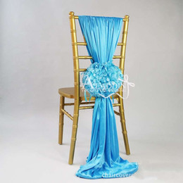 Wholesale High Quality Spandex Chair Cover Spandex Chair Bands for Wedding Chair Cover Sash With Flowers Wedding Decoration