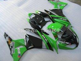 Wholesale 3 Free Gifts New ABS Plastic motorcycle Fairing Kits for kawasaki Ninja ZX6R R Bodywork green black elf