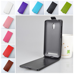 Wholesale-For Asus ZC451TG ZenFone Go (4.5 inches) Case Brand Luxury High Quality PU Leather Cover Protect Skin Flip Vertical Phone Cases