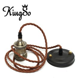 Wholesale Newest Kingso E27 E26 M Retro Antique Edison Vintage Style Incandescent Light Base Bulb Cord Grip Lamp Holder Ceiling Rose