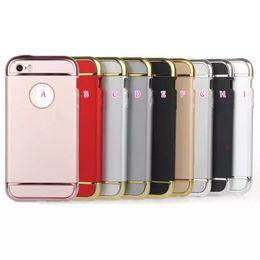 Wholesale 3in1 Hybrid Chromed Rose Gold Hard PC Matte Oil Case For Iphone Plus S Plus SE S G Hole Ring Rose Gold Bling Metallic Skin Cover