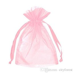 Wholesale 100 Pink Organza Jewelry Gift Pouch Bags X12cm x inch Drawstring Bag Organza Gift Candy Bags