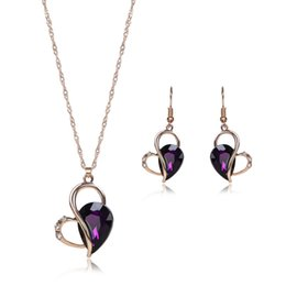 Wholesale high end jewelry jewelry two piece necklaces earrings accessories kit