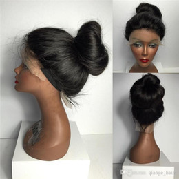 New glueless full lace human hair wigs with baby hair lace front wigs long straight full lace wig