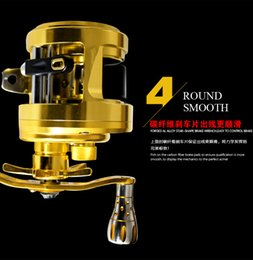 Wholesale KAWA New Lure Drum Reel High quality Magnetic braking system one way Clutch beautiful luxury gold color