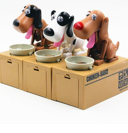 Wholesale Creative Piggy Bank Dog Steal Money Coins Saving Box Pot Case kids Gifts automated dog Steal Coin Itazura Piggy Money Save Box LJJK408