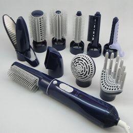 Inicio peinado del cabello en Línea-Mejor 10-en-1 multifunción profesional Secador de pelo eléctrico secador de pelo rizador Styling cepillo peine enderezador difusor para uso doméstico