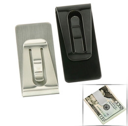 Wholesale Portable Stainless Steel Money Clip Double Sided Credit Card Holder Wallet