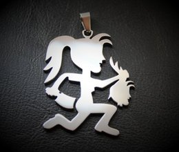 Wholesale Skeleton Head Sale - hatchegirl with girl head GH charm juggalo juggalette ICP sale limited w 30inch ball necklace ship free