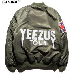Fall-2015 Jacket Hip Hop Men Brand YEEZUS Jacket Camouflage Flight Bomber Jacket Men Clothing Kanye West Jacket SMC0150-5