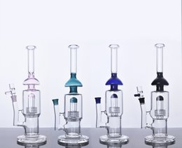 Wholesale New Sesh Supply glass bong water pipe oil rig recycler birdcage perc bong Best quality
