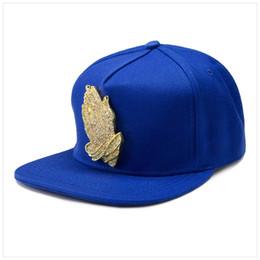 Wholesale Black Blue Red Caps Praying Hands Baseball Cap Adjustable Snapback Hats Sports Gorras Hip Hop Style For Women Men