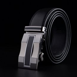Wholesale Fashion designer leather strap male automatic buckle belts for men authentic girdle trend men s belts ceinture cinto masculino