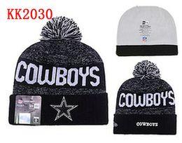 Wholesale free ship New winter Hot Cowboys Football Pom Dallas Beanies Football Beanies Knit Beanie Hats Warm Winter Caps Sports Team Hats
