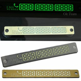 Universal Car Styling 15*2cm Luminous Temporary Car Parking Card Magnetic Phone Number Card Plate Sucker Car Sticker God Silver
