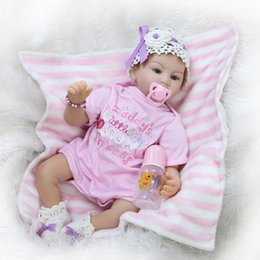 Wholesale New Fashion Dolls Vinyl Silicone Reborn Toddler Baby Toys for Girls Realistic Lifelike American Girl Dolls for Sale Toys for Children boneca