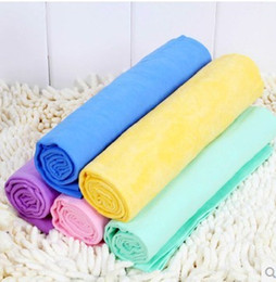 Multi Colors 43*32*0.2cm Dog Cat High Absorbent Towel PVA Material dogs cats grooming products Pets Bath Towels pet dog cleaning towel