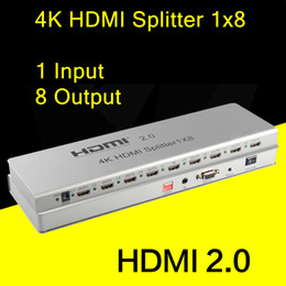Wholesale V2 K HDMI splitter x8 HDCP2 with IR extension EDID management RS232