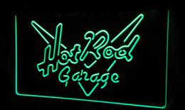 LS486-g Hot Rod Garage Car Neon Light Sign