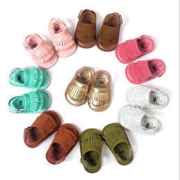 Wholesale 2016 New Baby PU leather first walker shoes Best quality fashion Tassels mocassins baby shoes soft soled shoes sandals for infant DHL FREE