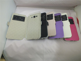 Wholesale Luxury Slim PU Leather Window View Flip Cover Case for Samsung Galaxy J2 G7106 Sony C6 T2 T3 M4 Aqua Phone Bags Flip Cover