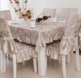 Wholesale European pastoral style lace cloth art of tea table cloth chair cushion outfit ikea table cloth