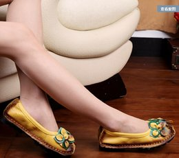Spring new Fashion Women's Flat Shoes Woman Genuine Leather Soft Outsole Comfortable Casual Handmade Flower Shoes Women Flats
