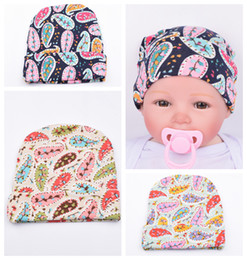 Wholesale New Baby Girls Headbands Europe Style Pattern of leaves Printed knit Flange cap Baby Hat headwear colors