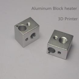 Wholesale 3D Printer Parts Reprap E3D V6 Aluminium Heater Block for Hot End Sand Blasting Surface mm Aluminum Block Heater