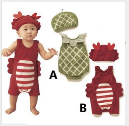 2016 New Hot Infant Baby Insect Model Rompers Toddler Boys Summer Sleeveless Jumpsuits With Hat Babies Clothing Newborn Onesies One-Pieces